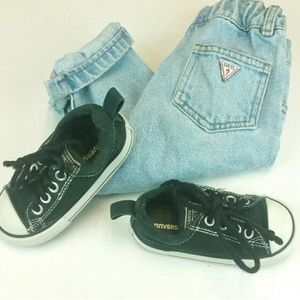 Converse All Star Infant toddler Black Size 6